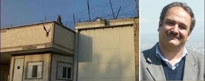 جان باختن  زندانی سیاسی شاهرخ زمانی در زندان گوهردشت کرج