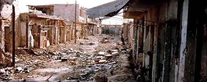 آثار ویرانی جنگ ضدمیهنی در شهرهای کشور