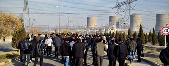 تجمع اعتراضی کارگران در کاشان