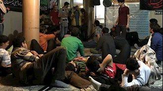 تجمع اعتراضی دانشجویان دانشگاه هنر اصفهان