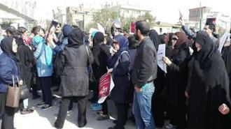 تجمع اعتراضی مالباختگان غارت شده پدیده شاندیز مقابل مجلس ارتچاع