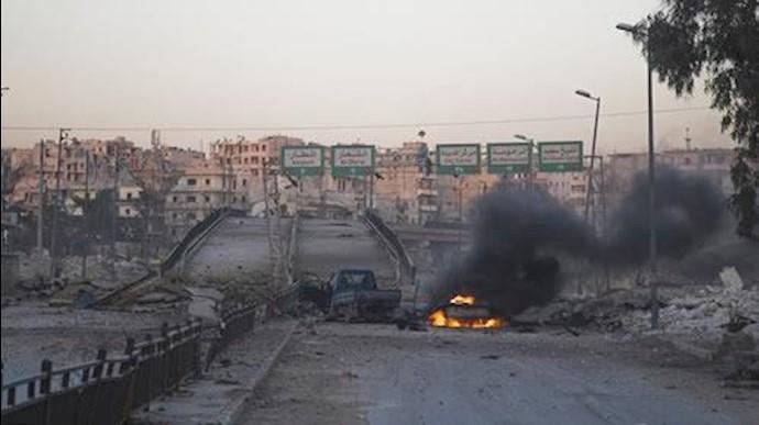 بمباران و درگیری در حلب