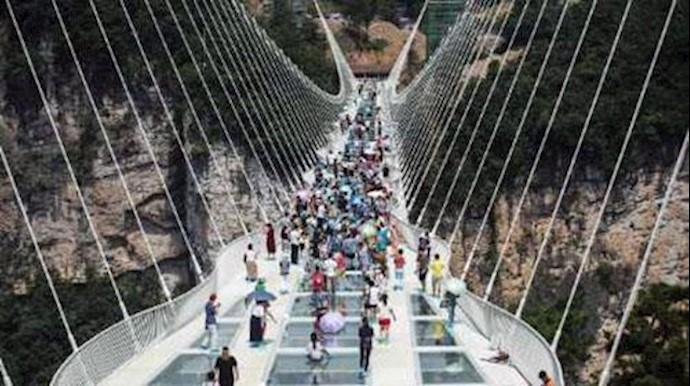 افتتاح پل معلق چین