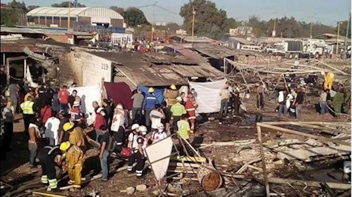 آتش سوزی در مکزیک