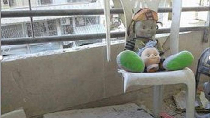 بمباران کودکستانی در حلب
