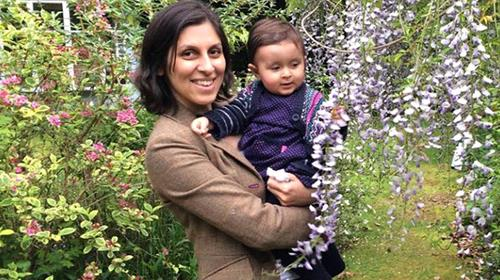 British-Iranian nationality, Mrs. Zaghari-Ratcliffe and her two years old daughter