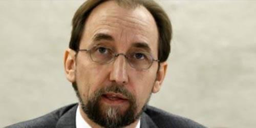 مفوض الأمم المتحدة لحقوق الإنسان ، زيد بن رعد الحسين
