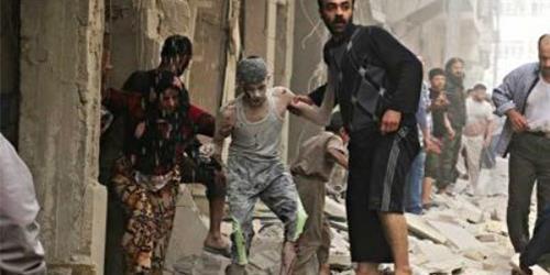 قصف جوي على مدينة حلب