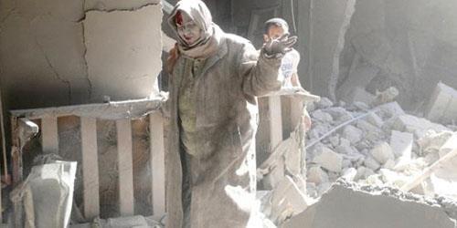 النيران تلهب من حلب