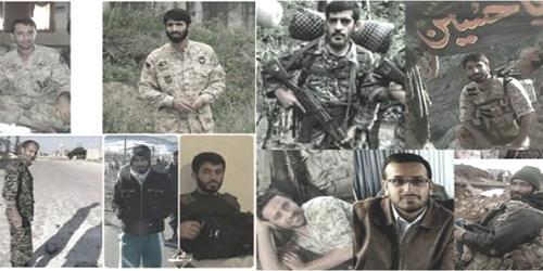 صورة لبعض قتلى الحرس الثوري في خان طومان بسوريا