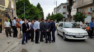 تجمع اعتراضی کارگران شرکت نفت بهشهر