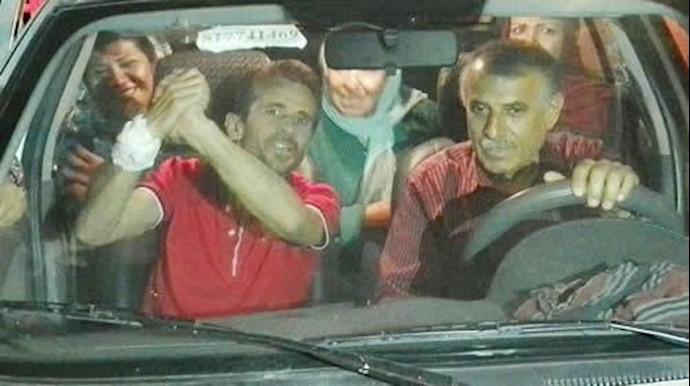 زندانی سیاسی جعفر عظیم زاده  پس از آزادی از زندان