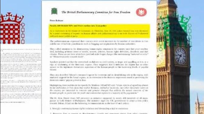 فراخوان400 نماینده مجلسین انگلستان برای تحقق حقوقبشر در ایران
