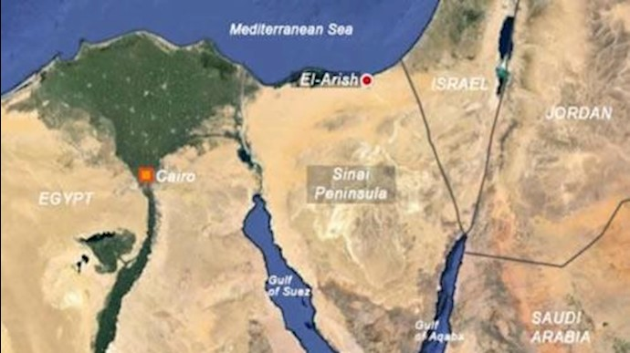 نقشه مصر - صحرای سینا