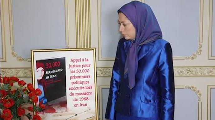 حضور خانم رجوی در   نمایشگاه یادبود خاطره شهیدان سال ۶۷ در شهرداری منطقه دوم پاریس