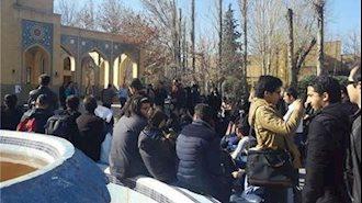 چهارمین روز تجمع اعتراض دانشجویان دانشگاه تربیت مدرس