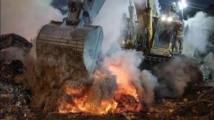 گداختگی غیرطبیعی اسکلت فلزی ساختمان پلاسکو
