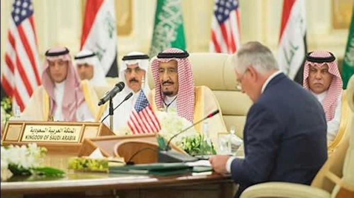 رکس تیلرسون در دیدار با پادشاه عربستان