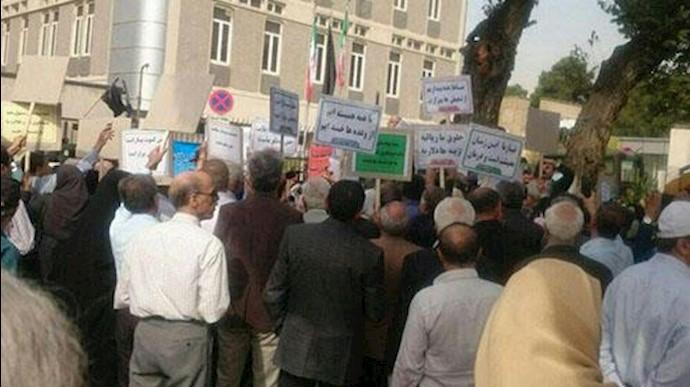 تجمع اعتراضی بازنشستگان کشوری در تهران