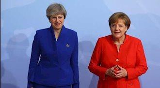 آنگلا مرکل، صدراعظم آلمان و ترزا می، نخستوزیر انگلستان