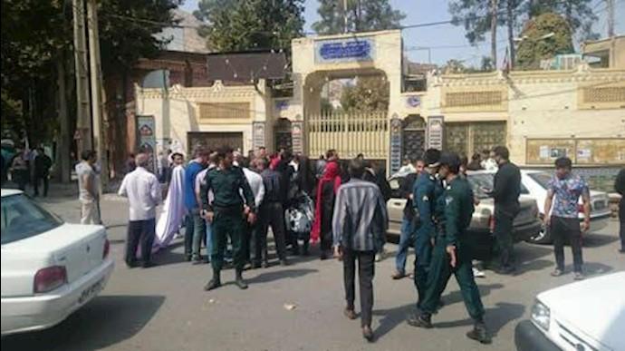درگیری غارتشدگان با مأموران نیروی انتظامی در خرمآباد