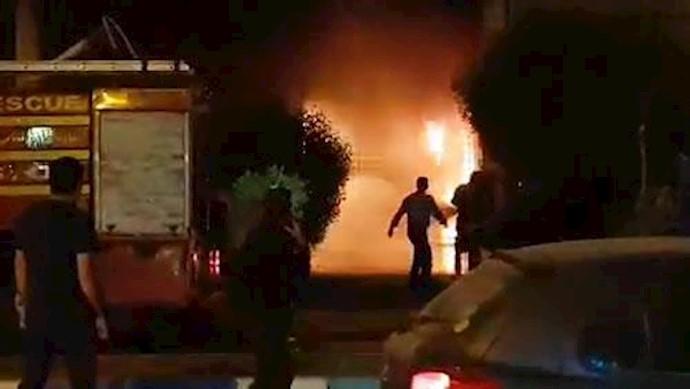 شعبه مؤسسه آرمان در اهواز به آتش کشیده شد