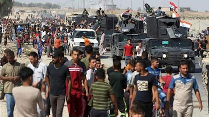 ورود نیروهای نظامی عراقی به شهر کرکوک