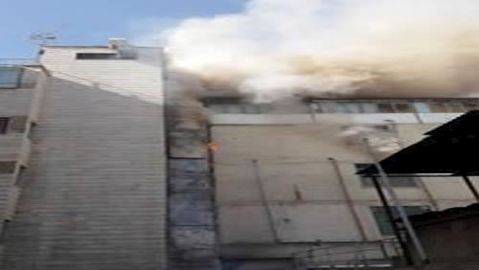 وقوع آتش سوزی در بیمارستان خیریه سید الشهدای تهران