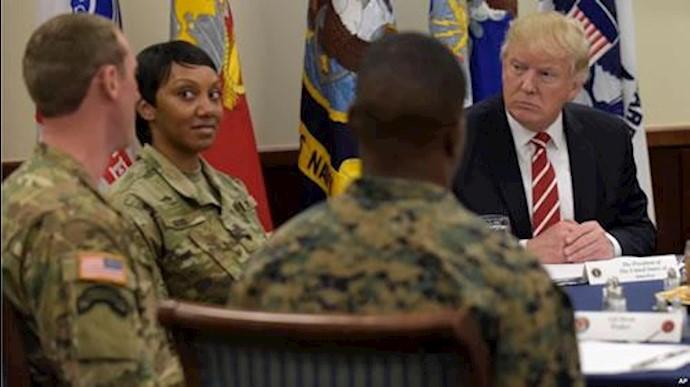 دونالد ترامپ در دیدار با فرماندهان نظامی آمریکا