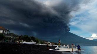 فوران قریبالوقوع آتشفشانی در بالی اندونزی
