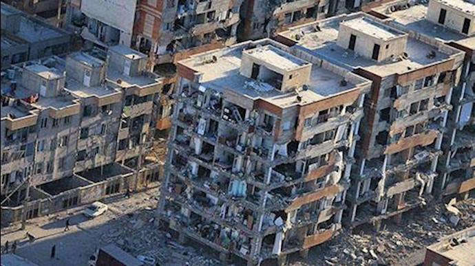 افتضاح ساختمانهای مسکن مهر در زلزله کرمانشاه