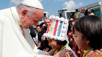پاپ وارد میانمار شد