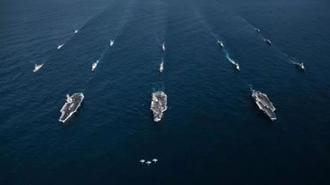 شرکت همزمان سه ناو هواپیمابر آمریکا در شبه جزیره کره