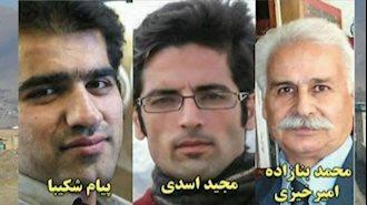 زندانیان سیاسی محمد امیرخیزی، مجید اسدی و پیام شکیبا