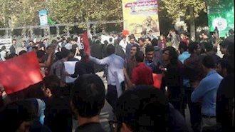 تجمع اعتراضی دانشجویان دانشگاه تهران علیه سیاستهای آموزشی