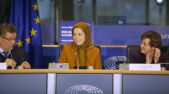 سخنرانی مریم رجوی در پارلمان اروپا در آستانه روز جهانی حقوقبشر