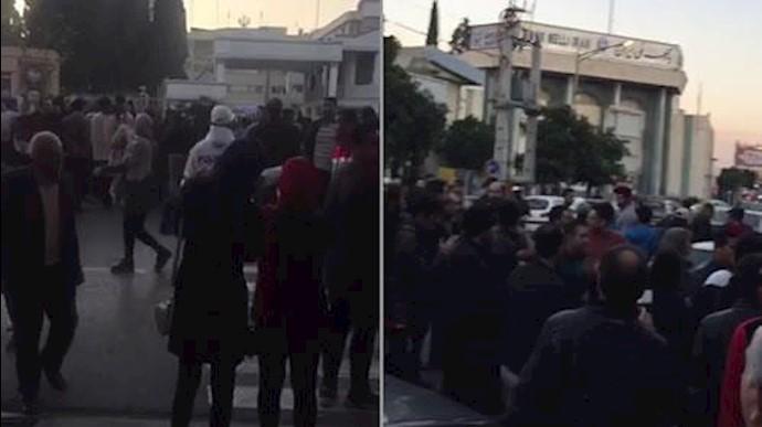 تظاهرات مردم در ساری و قائمشهر