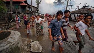 کشتار مسلمانان روهینگیایی در میانمار