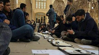 تجمع اعتراضی دانشگاه هنر تبریز