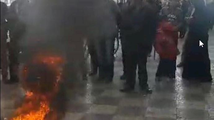 تجمع اعتراضی غارتشدگان در قرچک ورامین