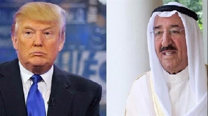 دونالد ترامپ و  امیر کویت