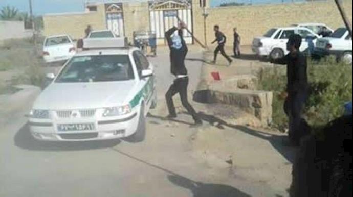 درگیریهای مردم و جوانان شادگان با مأموران سرکوبگر نیروی انتظامی - آرشيو