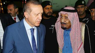 دیدار ملک سلمان و رجب طیب اردوغان در ریاض