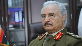 ژنرال خلیفه حفتر فرمانده ارتش ملی لیبی