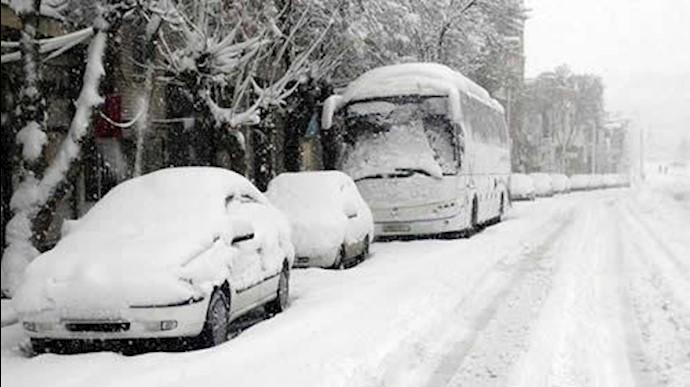 برف سنگین در مشهد