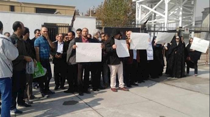 تجمع اعتراضی غارت شدگان مسکن مهر
