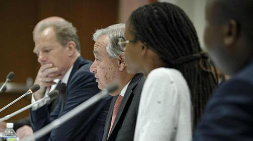 UN Secretary-General António Guterres addresses an event on the occasion of the World Day Against the Death Penalty on 10 October 2017.