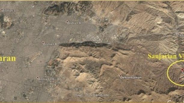 NCRI exposed METFAZ location near Sanjarian Village in 2009.