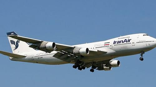 File; Illustrative photo of an Iran Air Boeing 747 passenger plane.