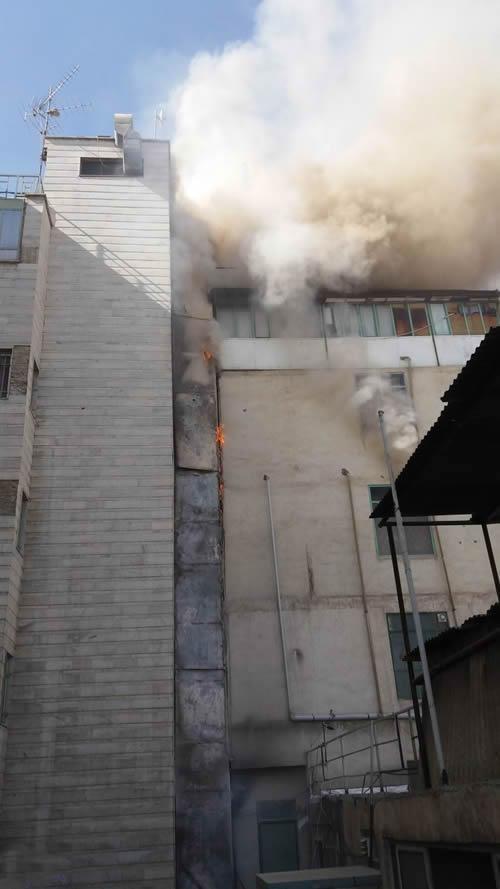 وقوع آتش سوزی دربیمارستان خیریه سید الشهدای تهران